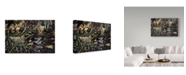 "Trademark Global Jeff Tift 'Mallards' Canvas Art - 12"" x 19"""
