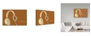 "Trademark Global John W. Golden 'Lunastrella Headphones' Canvas Art - 12"" x 19"""