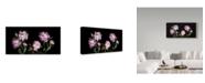 "Trademark Global Susan S. Barmon 'Peonies' Canvas Art - 10"" x 19"""