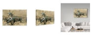 "Trademark Global Peter Miller 'Bentley and Spitfire' Canvas Art - 12"" x 19"""