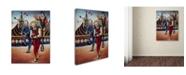 "Trademark Global Edgar Barrios 'Runda Rondinel' Canvas Art - 14"" x 19"""
