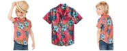 Epic Threads IT List Toddler Boys Floral-Print Cotton Shirt, Created for Macy's