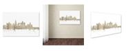 "Trademark Global Michael Tompsett 'Los Angeles Skyline Sheet Music' Canvas Art - 12"" x 19"""