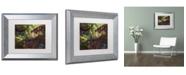 """Trademark Global Kurt Shaffer 'Multi Colored Maples' Matted Framed Art - 11"""" x 14"""""""