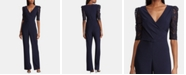 Lauren Ralph Lauren Lace Puff-Sleeve Jumpsuit