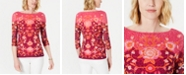 Charter Club Printed Bateau-Neck Top, Created for Macy's