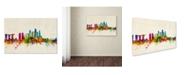 "Trademark Global Michael Tompsett 'Singapore Skyline' Canvas Art - 12"" x 19"""