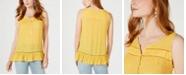 Style & Co Petite Sleeveless Ruffle-Hem Top, Created for Macy's