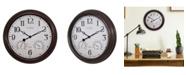 "La Crosse Technology La Crosse Clock 15"" Indoor/Outdoor Wall Clock with Temperature and Humidity"