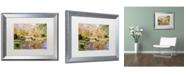 "Trademark Global David Lloyd Glover 'Reflections of the White Bridge' Matted Framed Art - 16"" x 20"""