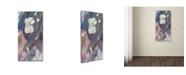 "Trademark Global David Lloyd Glover 'Bird Street' Canvas Art - 12"" x 24"""