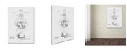 "Trademark Global Claire Doherty 'Baseball Glove Patent 1905 White' Canvas Art - 35"" x 47"""