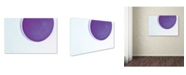 """Trademark Global Claire Doherty 'Porthole in Plum' Canvas Art - 47"""" x 30"""""""