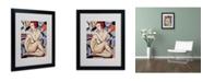 "Trademark Global Catherine Abel 'Cubist Nude Orange and Purple' Framed Art - 20"" x 16"""