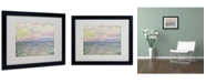 """Trademark Global Claude Monet 'Coucher de Soleil a Pourville' Matted Framed Art - 20"""" x 16"""""""
