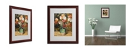 "Trademark Global Pierre Auguste Renoir 'Vase de Fleurs 1888-89' Matted Framed Art - 20"" x 16"""