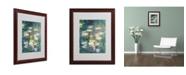"""Trademark Global Claude Monet 'Water Lilies V 1840-1926' Matted Framed Art - 20"""" x 16"""""""