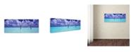 "Trademark Global David Evans 'The Hammock 3' Canvas Art - 16"" x 47"""