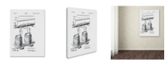 """Trademark Global Claire Doherty 'Art Of Brewing Beer Patent White' Canvas Art - 14"""" x 19"""""""