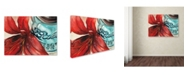 "Trademark Global Jennifer Redstreake 'Ball Jar Red Lily' Canvas Art - 14"" x 19"""