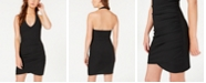 Material Girl Juniors' Ruched Rib-Knit Halter Dress, Created for Macy's
