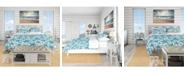 Design Art Designart 'Pattern Of Blue Starfish' Coastal Duvet Cover Set - Queen
