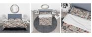 Design Art Designart 'Pattern Amusing Lovers Robots' Modern and Contemporary Duvet Cover Set - Twin