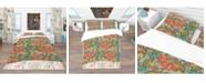 Design Art Designart 'Colorful Floral Pattern' Bohemian and Eclectic Duvet Cover Set - Queen