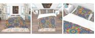 Design Art Designart 'Colored Indian Ornament' Bohemian and Eclectic Duvet Cover Set - Queen