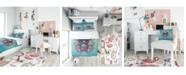 Design Art Designart 'Skull With Glasses And Butterflies' Modern Teen Duvet Cover Set - Twin