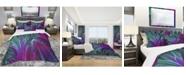 Design Art Designart 'Purple And Green Jungle' Modern and Contemporary Duvet Cover Set - Queen