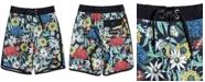 Quiksilver Big Boys Highline Floral-Print Swim Trunks