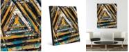 "Creative Gallery Galactia Gamma Abstract Portrait Metal Wall Art Print - 16"" x 20"""