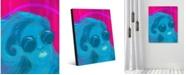 "Creative Gallery Dreamer Abstract Woman Portrait Metal Wall Art Print - 16"" x 20"""