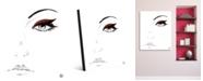 "Creative Gallery Crimson Eyeshadow Portrait Metal Wall Art Print - 16"" x 20"""
