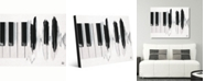 "Creative Gallery Piano Waves Watercolor Portrait Metal Wall Art Print - 24"" x 36"""