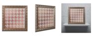 "Trademark Global Color Bakery 'Xmas Houndstooth 4' Ornate Framed Art - 11"" x 11"""
