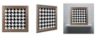 "Trademark Global Color Bakery 'Xmas Houndstooth 6' Ornate Framed Art - 11"" x 11"""