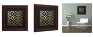 "Trademark Global Color Bakery 'Moroccan Gold IV' Matted Framed Art - 11"" x 11"""