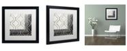"Trademark Global Color Bakery 'Paris Apartment I' Matted Framed Art - 16"" x 16"""