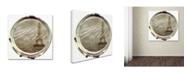 "Trademark Global Color Bakery 'Paris in Frames 3' Canvas Art - 35"" x 35"""