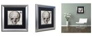"""Trademark Global Color Bakery 'Halloween Skull' Matted Framed Art - 16"""" x 16"""""""