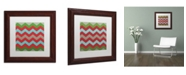 "Trademark Global Color Bakery 'Xmas Chevron 7' Matted Framed Art - 11"" x 11"""