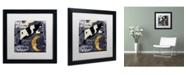"""Trademark Global Color Bakery 'Childhood I' Matted Framed Art - 16"""" x 16"""""""
