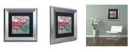 "Trademark Global Color Bakery 'Serendipity I' Matted Framed Art - 11"" x 11"""