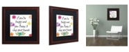 """Trademark Global Color Bakery 'Happy' Matted Framed Art - 16"""" x 16"""""""