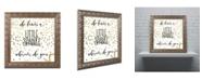 "Trademark Global Color Bakery 'Sparkle' Ornate Framed Art - 11"" x 11"""