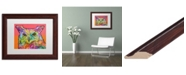 "Trademark Global Dean Russo 'Red Owl' Matted Framed Art - 11"" x 14"""