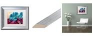 "Trademark Global Natasha Wescoat 'Blue Willow' Matted Framed Art - 11"" x 14"""