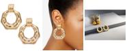 Thalia Sodi Gold-Tone Bamboo-Inspired Doorknocker Earrings, Created for Macy's